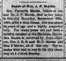 TNGenes Genealogy - Putnam County Herald - 1907